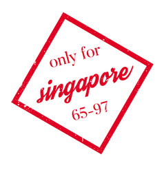 Only for singapore rubber stamp vector