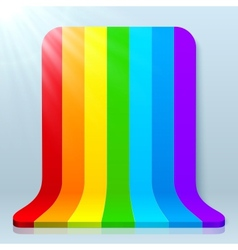Rainbow stripes plastic background vector image