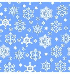 Snowfall pattern blue vector