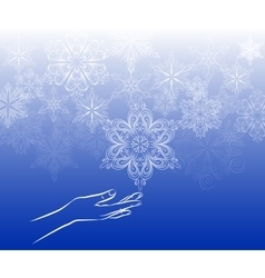 Touch snowflake background vector