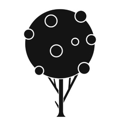 Tree with fruits icon simple style vector