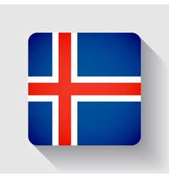 Web button with flag of Iceland vector image vector image