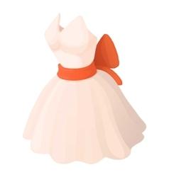 Wedding dress icon cartoon style vector