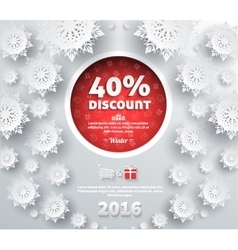 Winter Discount Best Choice Design Flat vector image vector image