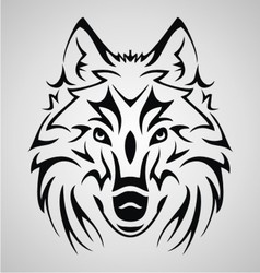 Wolf Head Tribal vector image vector image