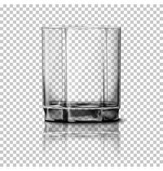 Transparent realistic glass isolated on vector
