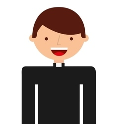 Priest character isolated icon vector