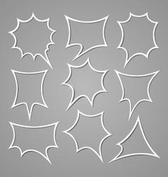 Bubble for speech set vector image