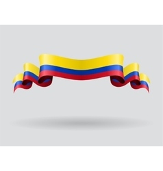 Colombian wavy flag vector