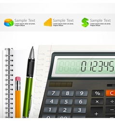 Calculator  notepad vector image