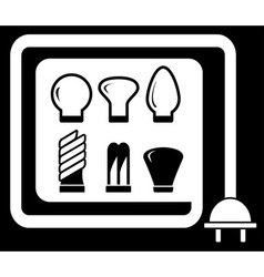 Set bulb for sale vector