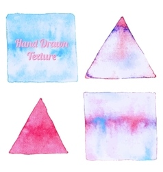 Watercolor triangle and rectangle shapes vector