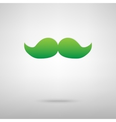 Moustache symbol green icon vector