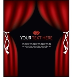 Playbill with curtain theater stage vector