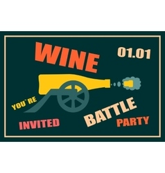 Design for wine event wine battle party vector