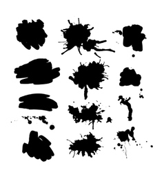 Set of ink spot vector