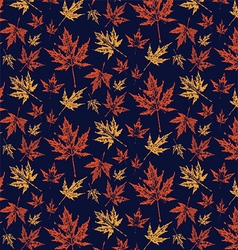 Autumn leafy pattern vector