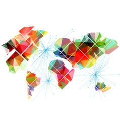 Abstract multicolor world map vector