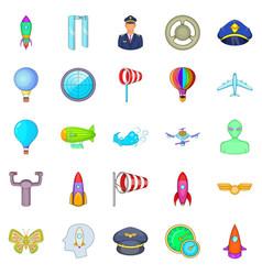 alighting icons set cartoon style vector image vector image