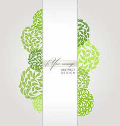 banner green background vector image