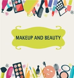 Beauty and fashion make up vector