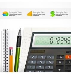 Calculator notepad vector image
