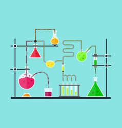 Cartoon chemical laboratory vector