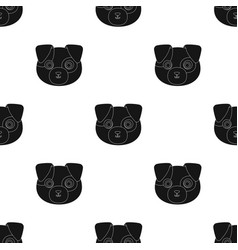 dog muzzle icon in black style isolated on white vector image