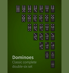dominoes bones set vector image