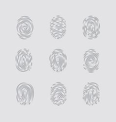 fingerprint vector image vector image