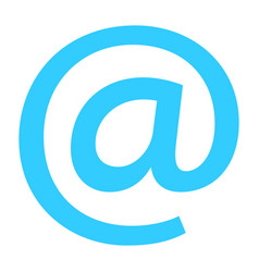 Flat icon email sign e-mail button at pictogram vector
