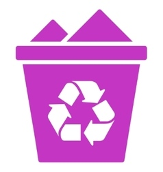 Full recycle bin icon vector