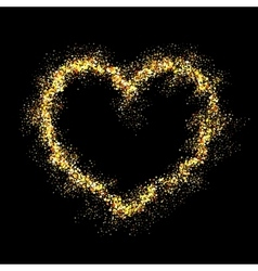 gold shiny heart vector image