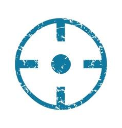 Grunge target icon vector