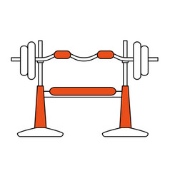 Gym machines flat vector