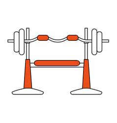 Gym machines flat vector