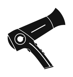 Hairdryer flat icon black simple icon vector