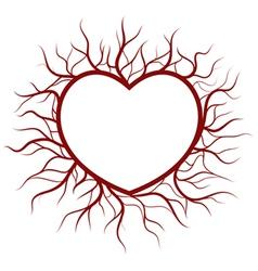 Heart in veins nimbus vector
