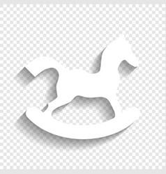 Horse toy sign white icon with soft vector