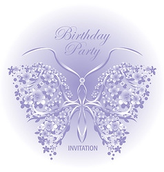 invitation design with butter vector image vector image
