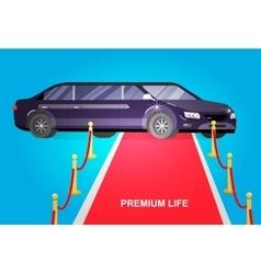 Luxury limousine car vector