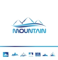 Mountain tourism logo icon vector image