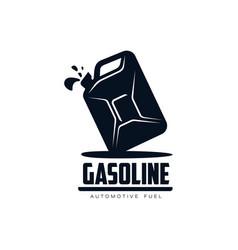 oil fuel canister flat icon pictogram vector image vector image