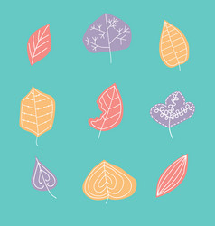 pattern with leaf abstract leaf textur vector image vector image