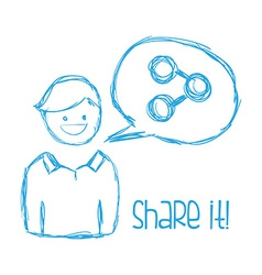 share it design vector image vector image