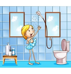 Showering vector image