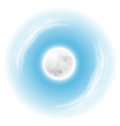 Sky with the moon vector