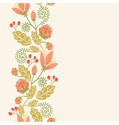 Spring flowers and berries vertical seamless vector image vector image