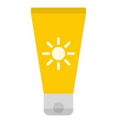 Sun cream icon vector