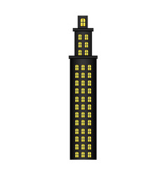 Tower residence with several floors vector